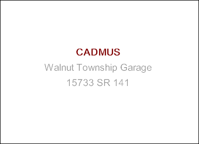 CADMUS Walnut Township Garage 15733 SR 141